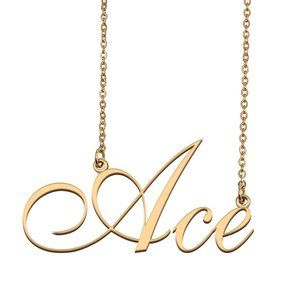 Custom Personalized Ace Name Necklace